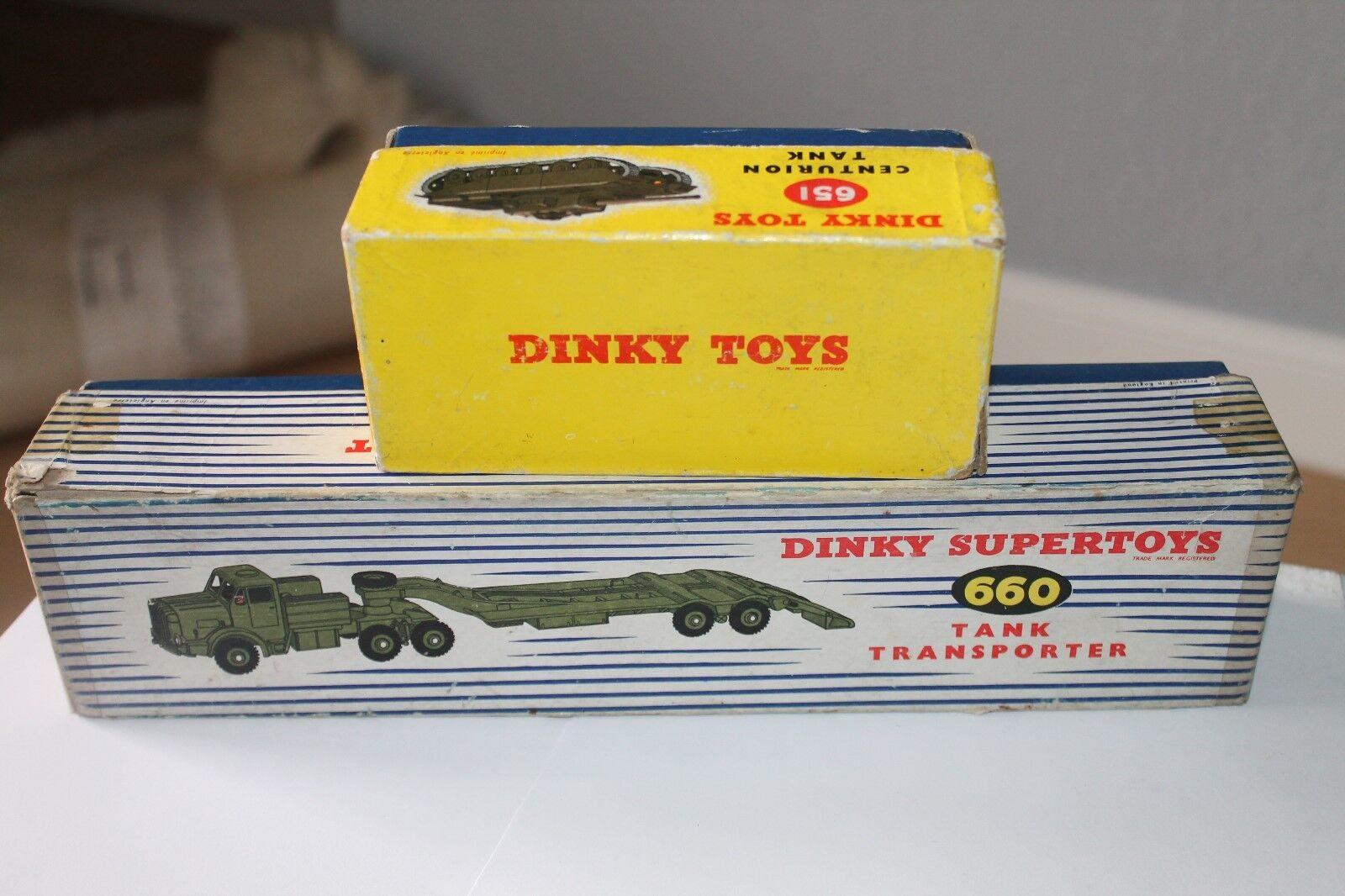 DINKY SUPERgiocattoli  Mighty Antar TRANSPORTER & CENTURION TANK  SET ORIGINALE