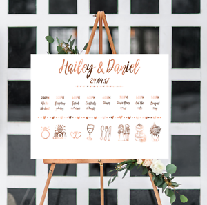 Order Of Events Wedding.Details About Wedding Timeline Order Of Events Weddings Copper Custom Wedding