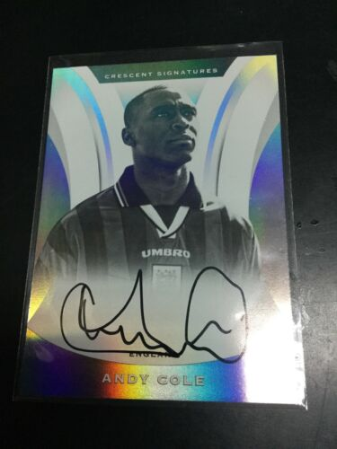 2017 Panini Nobility Soccer Andy Cole Crescent On Card AUTO Autograph England