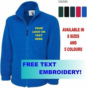 New-Embroidered-Personalised-Fleece-Jackets-Highest-quality-Cheapest-Uneek-604