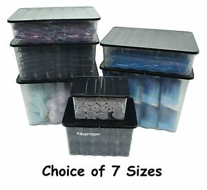 British Made Budget Plastic Storage Box Boxes Clear With