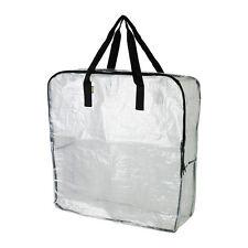 IKEA DIMPA Storage Shopping Bags Clear StrongHeavy Duty  Reusable w/ Zipper