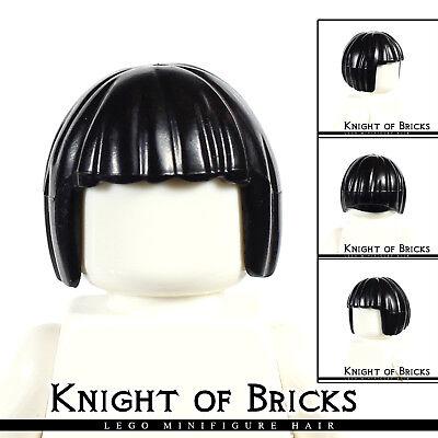 LEGO Minifigure Hair DARK TAN 62711 Female Girl Short Bob Cut City Town