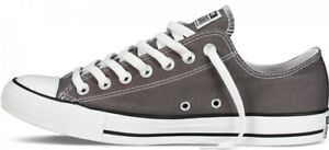 Tops To 8 Low Charcoal Grey Ladies Uk Converse Allstars Sizes 3 I64aqwaxF