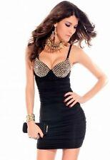 ## Sexy Minikleid Bandeau XS S 34 36 Partykleid Clubkleid Abendkleid Mit Nieten