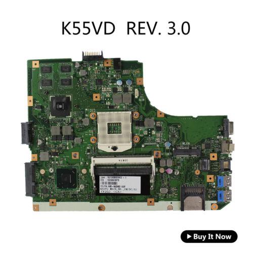 For Asus K55VD Motherboard K55A U57A 60-N89MB1301-A05 PGA 989 Rev 3.0 Main Board