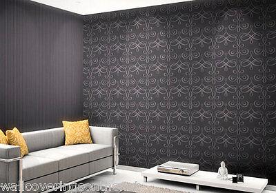 Stunning, Purplish Grey, Solid Vinyl Featurewall Wallpaper (Paste the Wall)