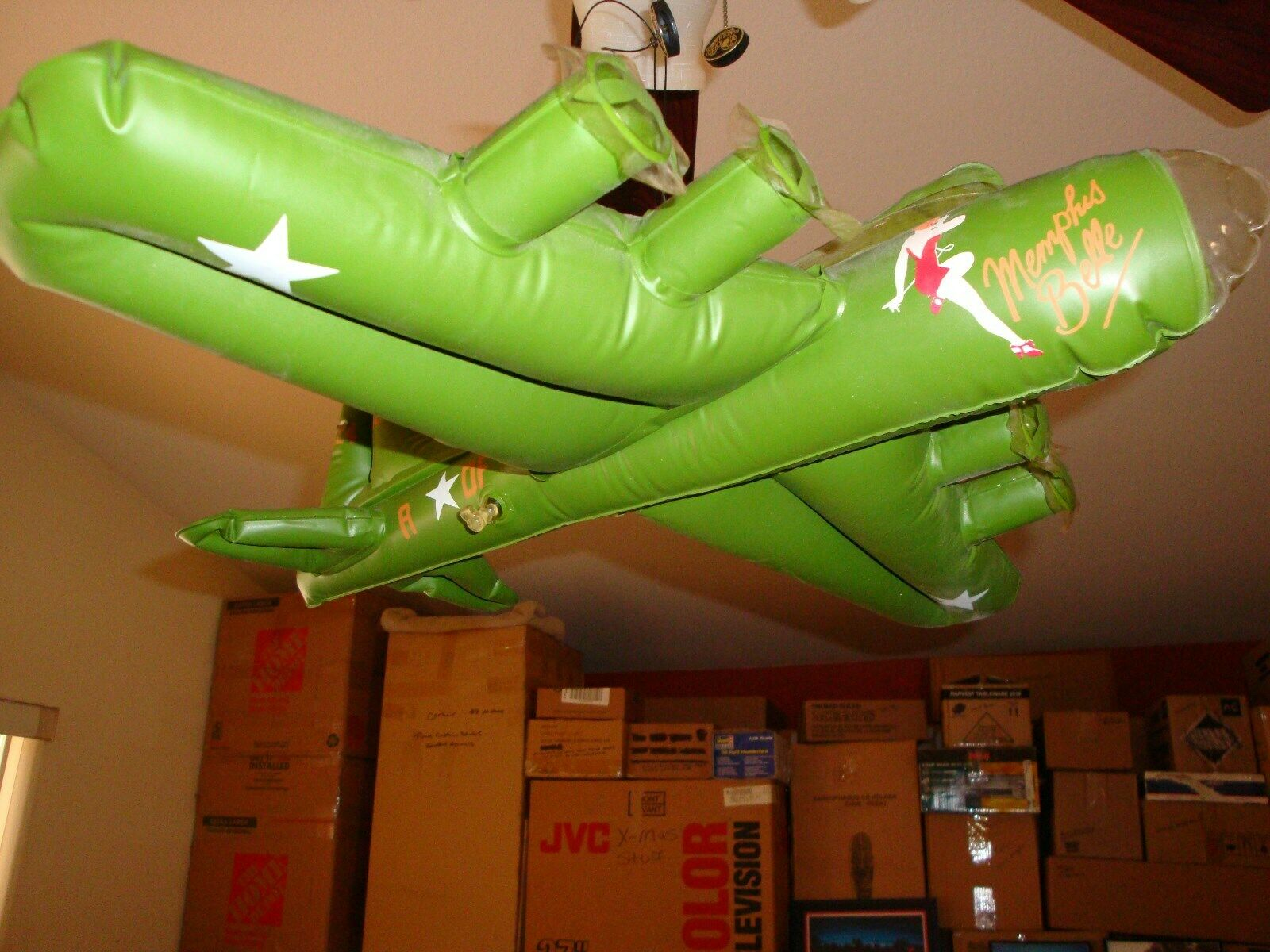 B-17 MEMPHIS BELLE INFLATABLE PROMO PROP FOR DISTRIBUTORS ONLY  VERY RARE
