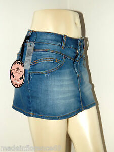 FORNARINA-MINIGONNA-JEANS-TG-XS-S-M-L-VILMA-STRETCH-DENIM-SKIRT-GONNA