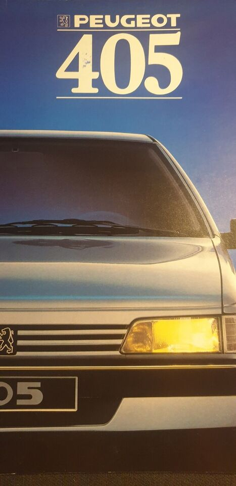 Brochure, Peugeot 405