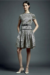 Image is loading New-Valentino-Animal-Leopard-Print-Silk-Dress-with- 045e80722