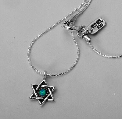 N02278OP SHABLOOL ISRAEL Didae Opal 925 Sterling Silver Star of David Necklace