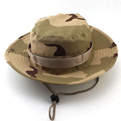 New Unisex Bucket Hat Boonie Hunting Fishing Outdoor Cap - Wide Brim Military IM