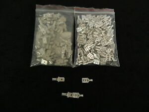100 PK 18-22 GAUGE UNINSULATED QUICK DISCONNECT FEMALE MALE .250 50 PCS EACH