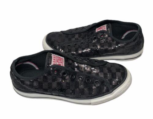 Converse All Star Sport Women's Black Sequin Shoes