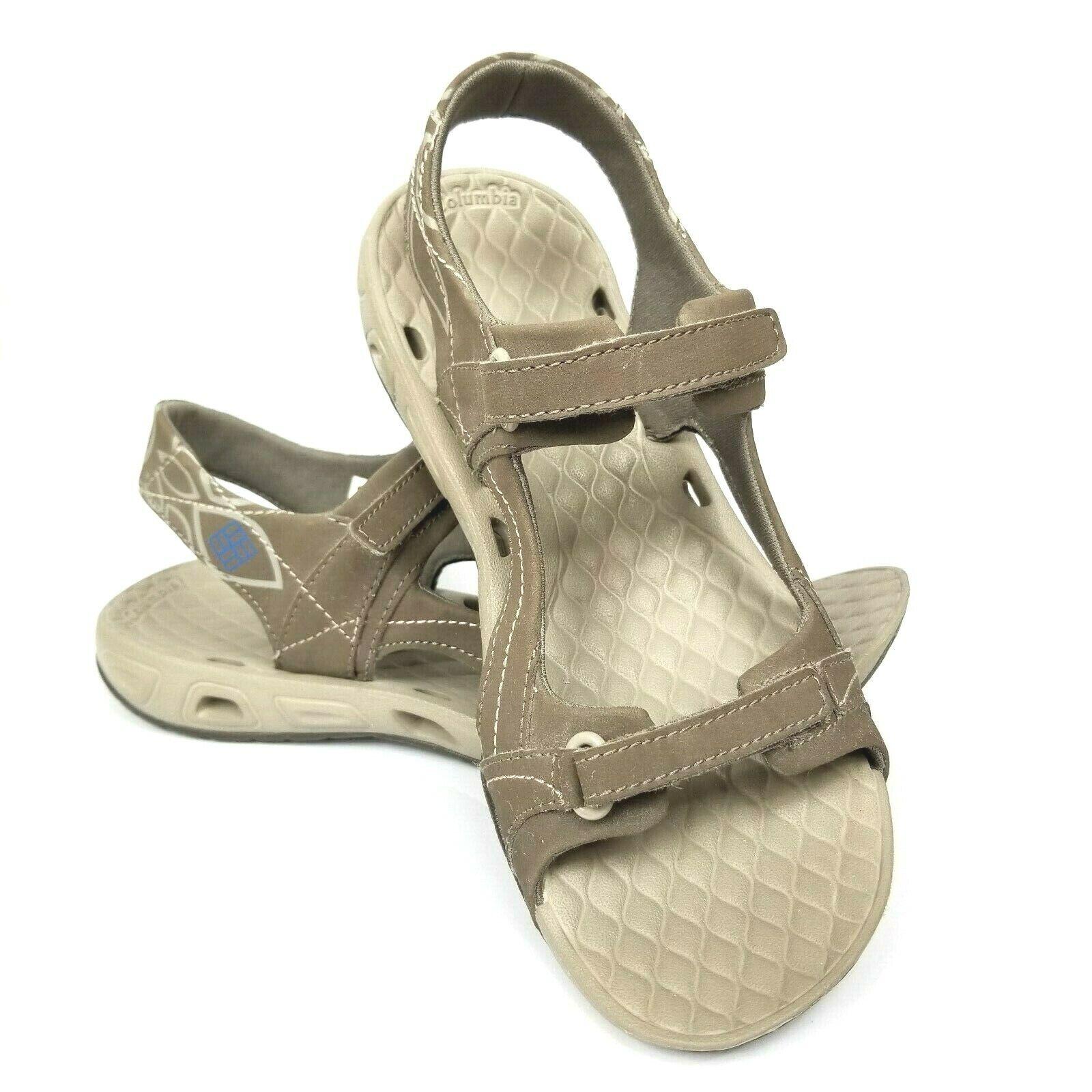 Columbia Athletic Omni-Grip Techlite Womens Sandal Brown Size 7
