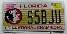 """USA Nummernschild Florida """"FSU NATIONAL CHAMPIONS"""" mit Indianerkpof. 11175."""