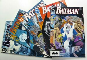 DC-Comics-BATMAN-1990-91-455-456-457-458-459-Copper-Age-LOT-Ships-FREE