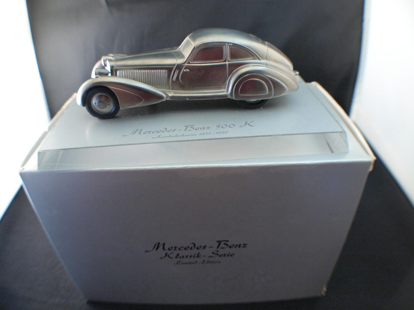 Danhausen Mercedes Benz 500K 1935-1936 12 cm en métal argenté socle 1 43 RARE
