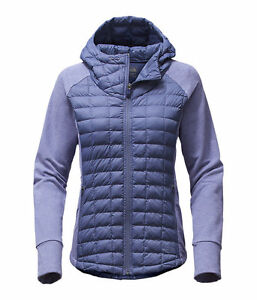 7995dac87 Details about The North Face Women's ENDEAVOUR THERMOBALL Hybrid Hooded  Jacket Fjord Blue M