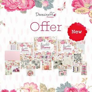 Painted-Blooms-Dovecraft-Vintage-Floral-Paper-Craft-Collection-FULL-RANGE