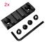 2x 5 Slot Jagd Weaverschiene für Keymod Picatinny Montage Ultraleicht Neu H
