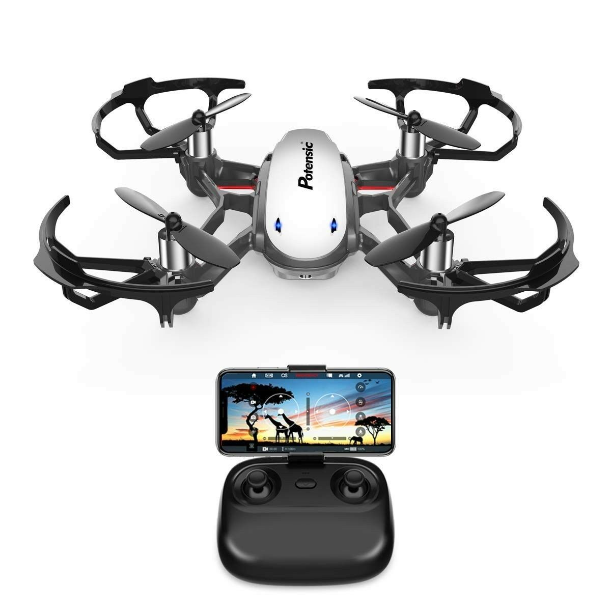 Potensic FPV RC Drone with Wi-Fi Camera Live Video Feed 2.4GHz 6-Axis Gyro Quad