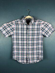 Vineyard-Vines-Mens-Small-Short-Sleeve-Button-Up-Classic-Fit-Tucker-Shirt-Plaid
