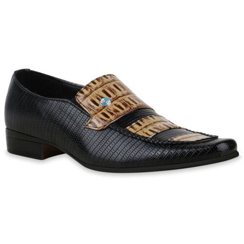 895601 Herren Business Schuhe Slippers Kroko Print Slip Ons Mens Special