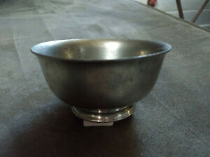 Paul-Revere-Reproduction-Colonial-Pewter-Finger-Bowl-by-Boardman-4x2-Inches