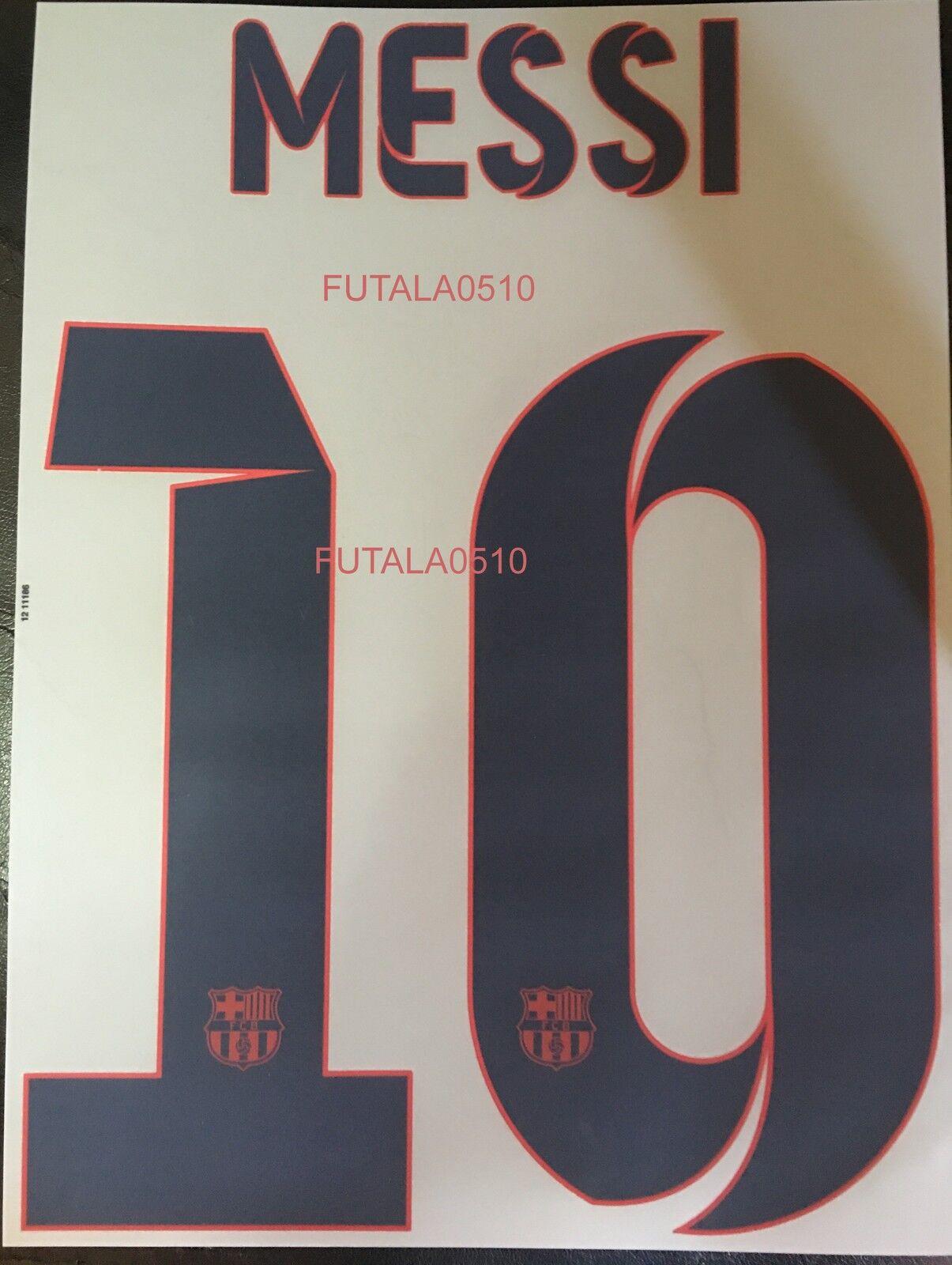 MESSI   10 Barcelona FC AWAY  20132014 Official Name Set Sipesa