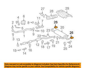 toyota oem 13 15 venza 3 5l v6 exhaust system tail pipe 174080p020 rh ebay com