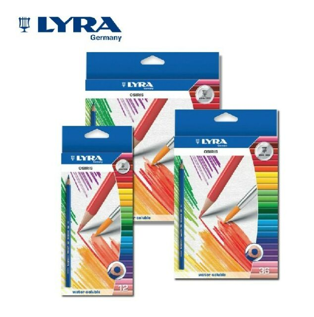 LYRA ARTIST 12/24/36COLOUR WATER SOLUBLE COLOURED PENCILS WITH BRUSH