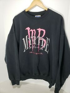 Vintage-80s-90s-Myrtle-Beach-South-Carolina-Sweatshirt-Pullover-XL-Black-MB