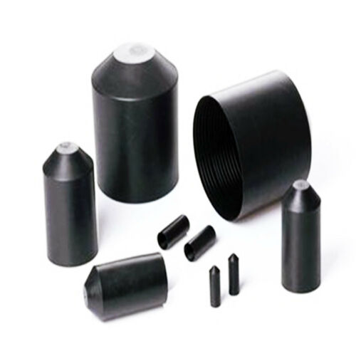 Heat Shrink End Caps Adhesive Glue Lined 10-120mm 2:1 Ratio 35KV High Voltage