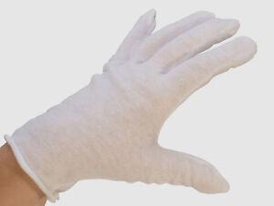 COTTON GLOVES WHITE INSPECTION HAND GLOVE LISLE 2 DZ