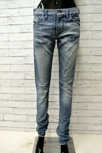 Jeans-ENERGIE-Donna-Taglia-Size-29-Pantalone-Pants-Cotone-Woman-Blu-Slim-Skinny