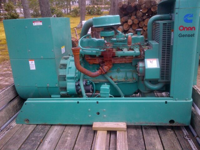 Cummins-Onan 35 KW Standby Nat  Gas Generator Set With Onan Transfer Switch