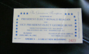ORIGINAL-TICKET-to-The-Governor-039-s-Reception-for-Ronald-Reagan-Dated-Jan-18-1981