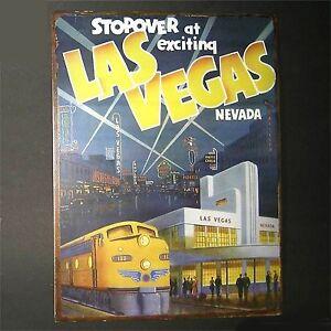 Las-Vegas-Blechschild-aufwaendige-Reproduktion-ca-35-x-27-cm