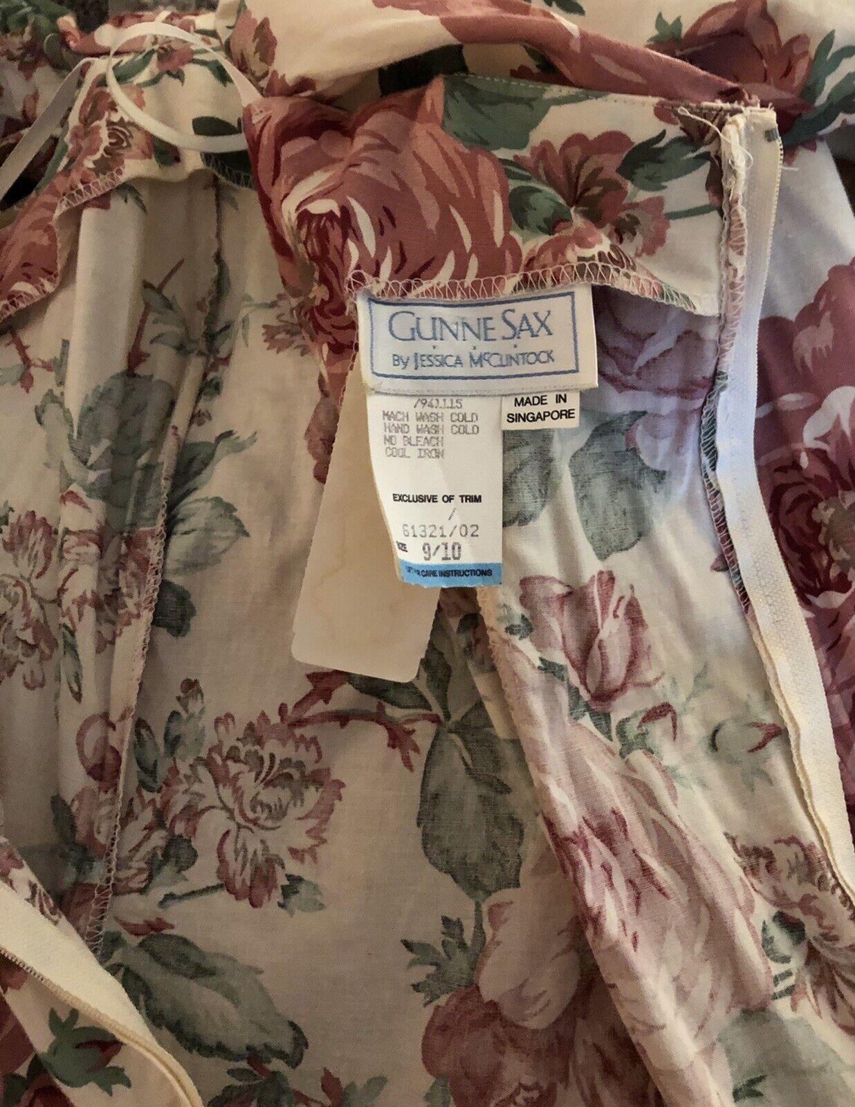 Vintge 1980s Gunne Sax Dress Dillards Dead Stock … - image 6