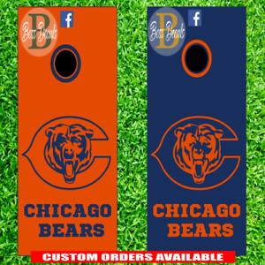 Fine Details About Chicago Bears Cornhole Set Of 6 Vinyl Decals Stickers Bean Bag Toss Game Nfl Alphanode Cool Chair Designs And Ideas Alphanodeonline