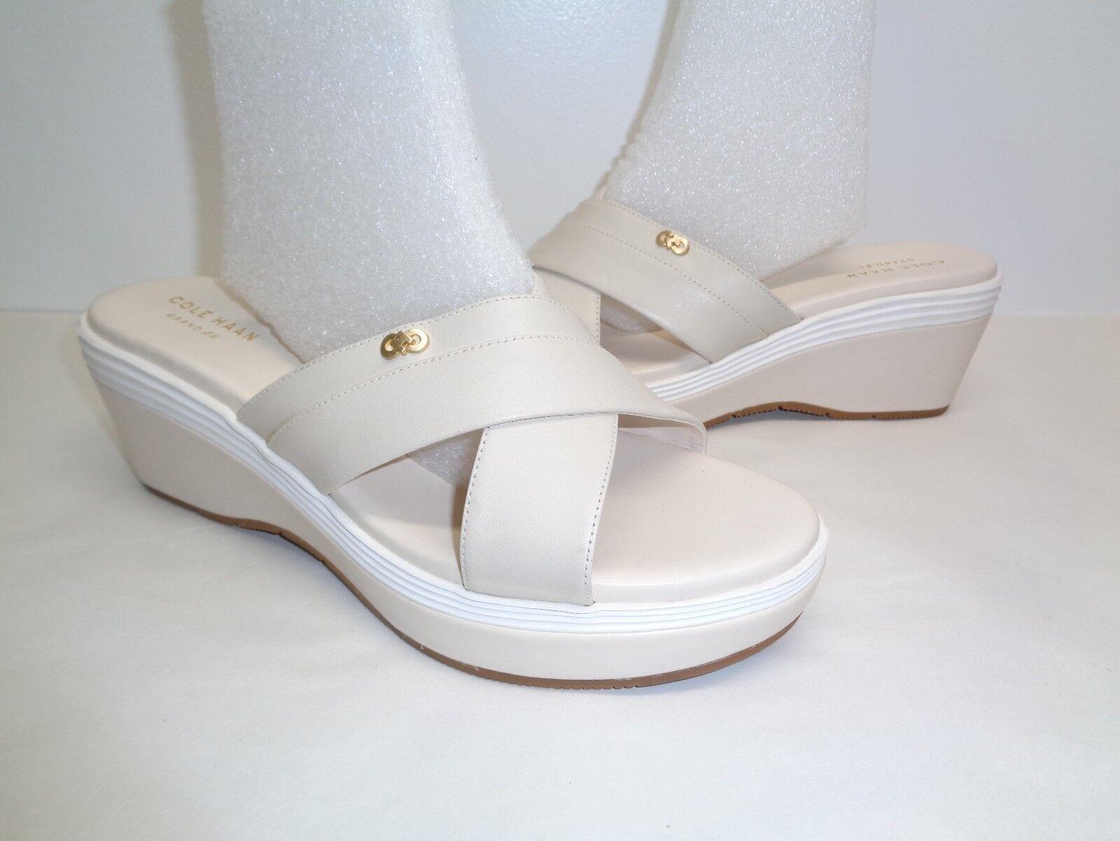 Cole Wedge Haan Größe 8.5 M BRIELLA GRAND Beige Leder Wedge Cole Sandales New Damenschuhe Schuhes b9bbb0
