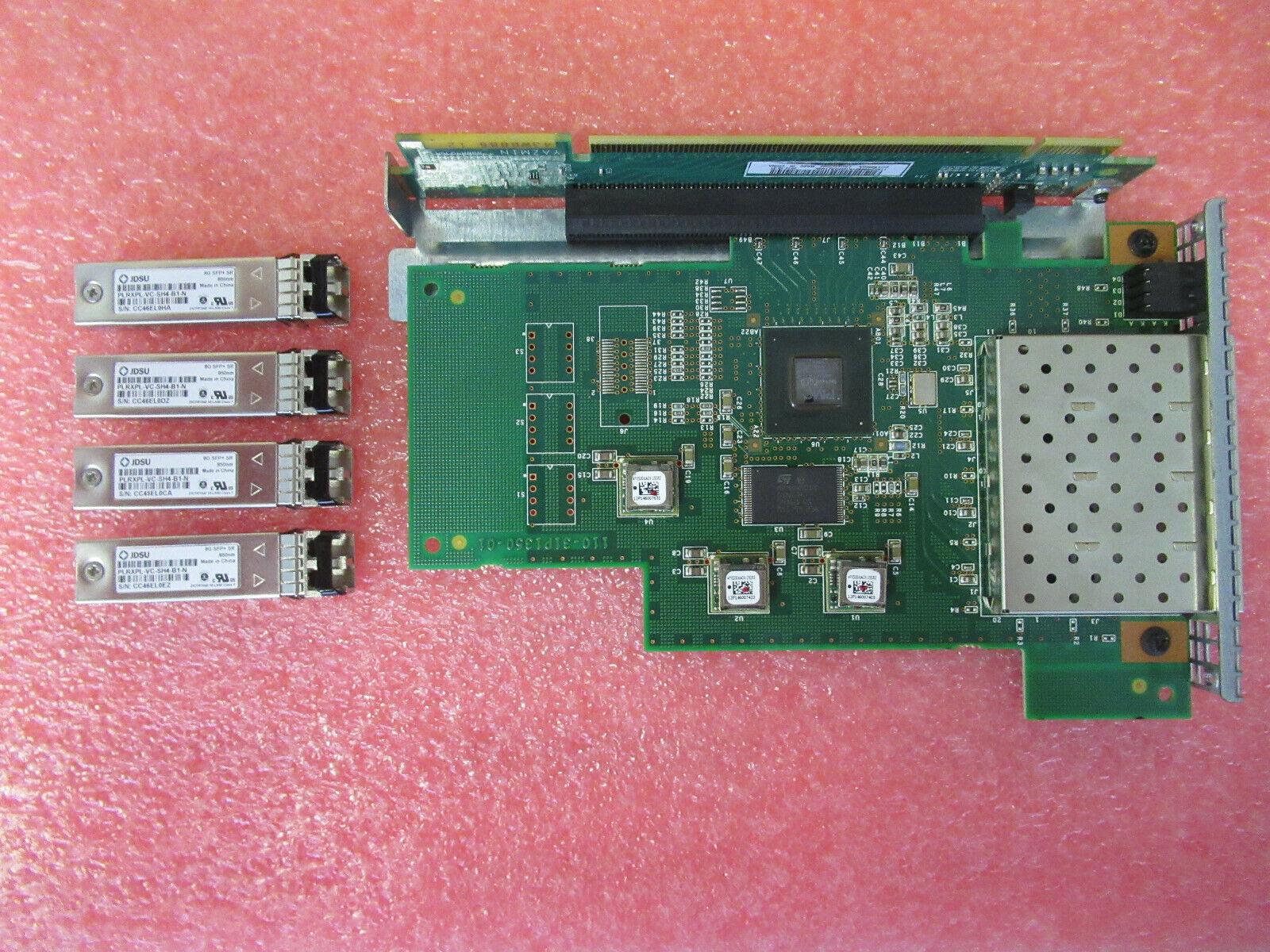 IBM 31P1641 X3550 4-Port 8GB Ethernet PCI-E x8 Network Adapter 4x 8GB SFP
