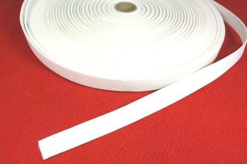 weiß  ca 20 mm breit 1 Meter Gummi Gummiband Wäschegummi