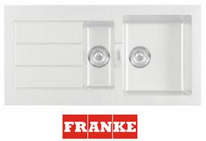 FRANKE SID651 Weiß Einbauspüle Küchenspüle Waschbecken Spüle 2 ...