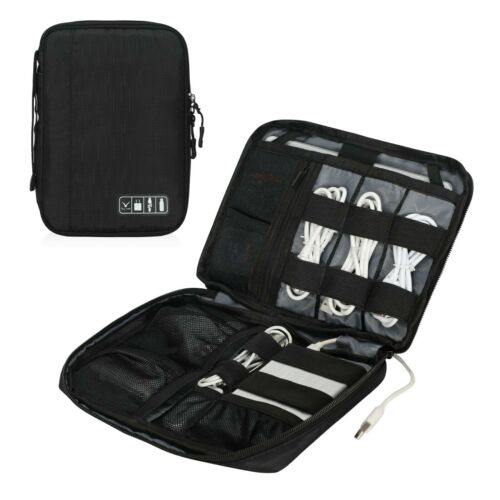 Travel Portable Cable USB Drive Electronic Accessories Organizer Bag Insert Case