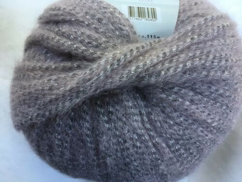 Lang Yarns Malou Luxe #09 Pink Silver BabyAlpaca Nylon Wool Metal Yarn 50g 126y