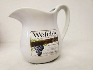 Vintage-McCoy-Pottery-Welch-s-Grape-Juice-Pitcher-One-Pint-365-Juice-Water