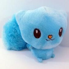 "4"" Light Blue Furry Tail Squirrel Soft Plush Stuffed Animal Keychain New Cute"